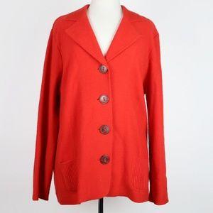 OLSEN Europe Wool Pocket Cardigan Sweater US 14
